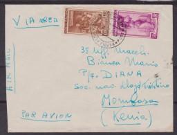 Storia Postale - Lettera Diretta A Mombasa Kenya Affrancata Con Italia A Lavoro L. 100 + L.30 - 6. 1946-.. Repubblica