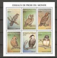 Comores (1999) Yv. 873/78 / Fauna - Birds - Oiseaux - Vogel - Owl - Eulenvögel