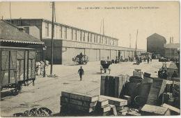 Le Havre Nouvelle Tente De Le CGT Cie Generale Transatlantique New York Wagon Attelage Chargement - Passagiersschepen