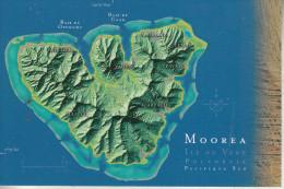 Polynésie Française  - MOOREA - Une Carte Très Utile Avec Les Lieux Les Plus Significatifs - Polynésie Française