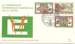 Cover FDC Congo 1963 La Communauté Économique Européenne Aide Le Congo - République Du Congo (1960-64)