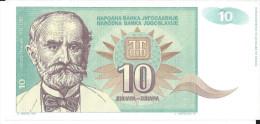 YOUGOSLAVIE - 10 Dinara 1994 UNC Pick 138 - Yougoslavie