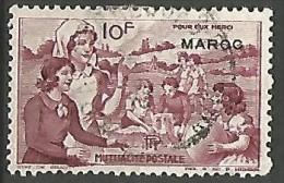 MAROC  VIGNETTE DE 10F OBL