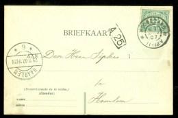 HANDGESCHREVEN BRIEFKAART Uit 1907 NVPH 55 Van HOOGEZAND Naar HAARLEM (9833j) - Periode 1891-1948 (Wilhelmina)