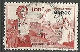 MAROC  VIGNETTE DE 100F OBL