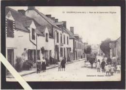 Soudan 44 - Rue De La Gare Vers L'église - Café Lardeux, Café Chapeau - Voir état - France