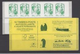 1 CARNET SAGEM MARIANNE DE CIAPPA :LV  .Couverture T.A.A.F - Carnets