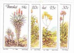 Transkei - 1986 - Aloes - Complete Set - Transkei