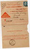 1928 - CARTE CONTRE REMBOURSEMENT De SEMALENS (TARN) - PASTEUR - France