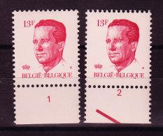 BELGIQUE COB 2203 **PARE AVEC NR PL 1/2, GOMME VERTE. (4TJ25) - 1981-1990 Velghe