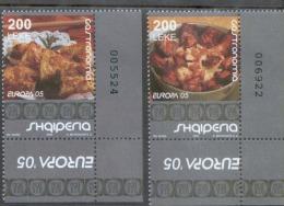 CEPT Albanien 3048 - 3049 A Gastronomie  MNH ** Postfrisch - 2005