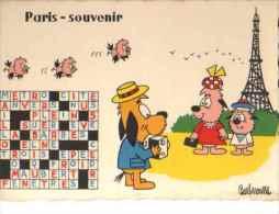 ILLUSTRATEUR BARBEROUSSE Paris Souvenir (mots Croisés, Chien Humanisé, Photo) - Barberousse
