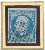 N°14 NUANCE LOSANGE PETITS CHIFFRES ( ET, OU VARIETE ) - 1853-1860 Napoléon III.
