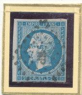 N°14 NUANCE LOSANGE PETITS CHIFFRES ( ET, OU VARIETE ) - 1853-1860 Napoléon III