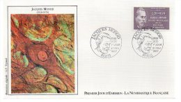 REF X7 FDC First Day Cover Enveloppe 1er Jour Jacques MONOD - FDC