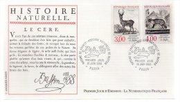 REF X7 FDC First Day Cover Enveloppe 1er Jour Histoire Naturelle De Buffon Le Cerf - FDC