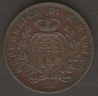 SAN MARINO 10 CENTESIMI 1893 - San Marino