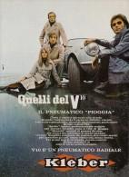 # KLEBER V10 Tyres 1950s Car Tires Italy Advert Pub Pubblicità Reklame Pneumatici Pneus Reifen Neumaticos - Transporto