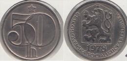 CECOSLOVACCHIA 50 Haleru 1978 KM#89 - Used - Cecoslovacchia