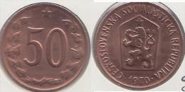 CECOSLOVACCHIA 50 Haleru 1970 KM#55.1 - Used - Cecoslovacchia