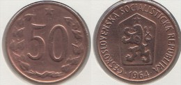 CECOSLOVACCHIA 50 Haleru 1964 KM#55.1 - Used - Cecoslovacchia