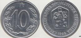 CECOSLOVACCHIA 10 Haleru 1966 KM#49.1 - Used - Cecoslovacchia