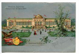 OK/ Litho Official Souvenir World's Fair St. Louis 1904, Silver Card, Elbert Cancel, New York Cancel To Kirchheim - St Louis – Missouri