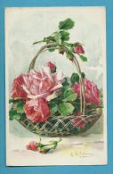 CPA 1255 Panier Fleurs Roses Illustrateur Catharina KLEIN - Klein, Catharina