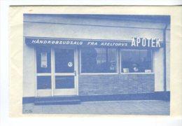 Pharmacy Prescription Envelope Axeltorvs Apotek Fredericia DK,  View Of Shop - Advertising