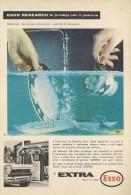 # EXXON MOBIL ESSO OIL 1960s Car Italy Advert Pub Pubblicità Reklame Huile Olio Aceite Ol - Vervoer