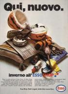 # EXXON MOBIL ESSO OIL 1970s Car Italy Advert Pub Pubblicità Reklame Huile Olio Aceite Ol - Transportation