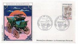 REF X8 FDC First Day Cover Enveloppe 1er Jour Centenaire De L'automobile - 1980-1989