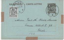 KAARTBRIEF  -CARTE-LETTRE N°27 II 1941 - Entiers Postaux