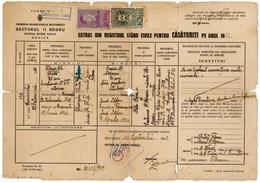 Romania, 1930, Vintage Marriage Register Extract - Kingdom Period, Bucuresti - Documentos Históricos