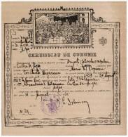 Romania, 1925, Vintage Matrimony Certificate - Kingdom Period, Curtea De Arges - Documentos Históricos