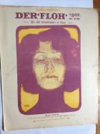 "OLD MAGAZINE  "" DER FLOH ""    FRONT COVER  ILLUSTRATED :  VICTOR FRISCH - Autographed"