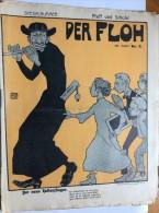 "OLD MAGAZINE  "" DER FLOH ""    FRONT COVER  ILLUSTRATED :  ALEXANDER WILKE - Books, Magazines, Comics"