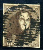 BELGIUM 1849 10c BROWN USED - 1849 Epaulettes