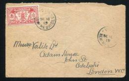 NEW HEBRIDES NEW HEBRIDES 1919 COVER TO LONDON - New Hebrides