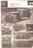 FICHE OLD AUTO -CAR - VOITURE  - RENAULT MC (1924)  N°33 - Auto's