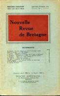 Nouvelle Revue De Bretagne N°1 1951 Evolutions Des Coiffes Du Pays De Chateaulin  Astronomie Bretonne - Bretagne