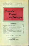 Nouvelle Revue De Bretagne N°4  1952 Reflexions Sur Le Costume Breton , Bourreau Et Guillotine En Bretagne - Bretagne