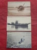 ZEEBRUGGE - ZEEBRUGES -  3 Postkaarten : Ruïnes Van Zeebrugge Na Oorlog 1914-1918 - Zeebrugge