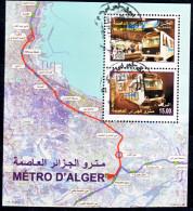 Algérie - Métro D´Alger- Bloc Feuillet Oblitéré N° YT 17 - Eisenbahnen