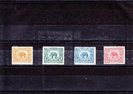 INDIA - SIRMOOR - SIRMUR - 1895/9 - */MLH - ELEFANT - ELEPHANT - Mi. 8,9,10,11 - Sirmur