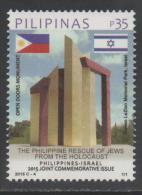 PHILIPPINES, 2015, MNH, JOINT ISSUE WITH ISRAEL, FLAGS, HOLOCAUST,1v - Gezamelijke Uitgaven
