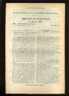 - TELEGRAPHIE . APPAREILS PERFORATEURS A CLAVIER . BREVET D´INVENTION DE 1902 . - Telefonía