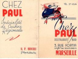 MARSEILLE  Restaurant Chez PAUL - Werbung
