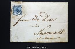Österreich: 1851 Complete Letter Triest To Neumarkt Nice Cancels Mi Nr 5X - 1850-1918 Imperium