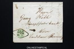 Österreich: 1866 Complete Letter Mi Nr 31 Wien (Cancel!) - 1850-1918 Imperium